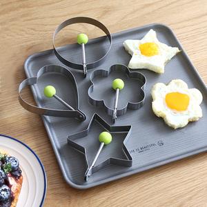 不锈钢心型煎蛋模具-爱心煎鸡蛋器-DIY厨房小工具
