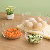 加厚透明玻璃碗-面碗沙拉碗